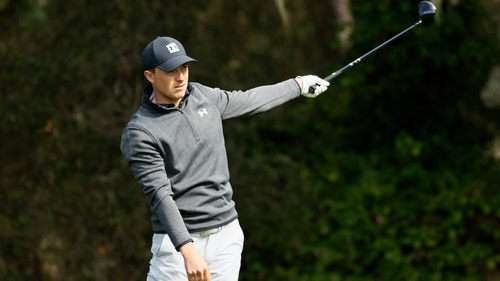 A wayward one perhaps, but Jordan Spieth leads the field going into the weekend