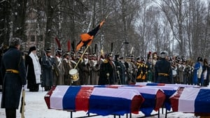 The caskets contained the remains of 120 soldiers, three women and three teenagers