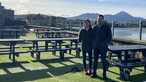 Tom Bourke has extended his beer garden to try to cater for more customers outside
