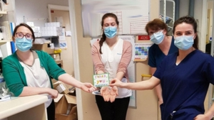 The cards were sent to nurses and other frontline workers
