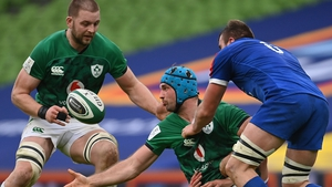 Iain Henderson (left) impressed in his first game as Ireland captain