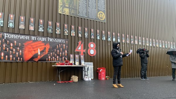 A recent vigil held at the site of the Stardust in north Dublin