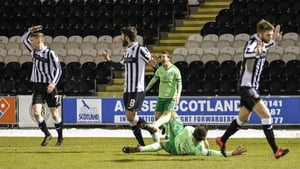 Celtic were awarded a penalty for a foul on Greg Taylor (pictured on the ground) against St Mirren