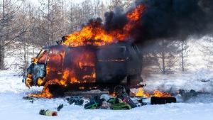 Burning Van 1, from Daragh Muldowney's Beacons