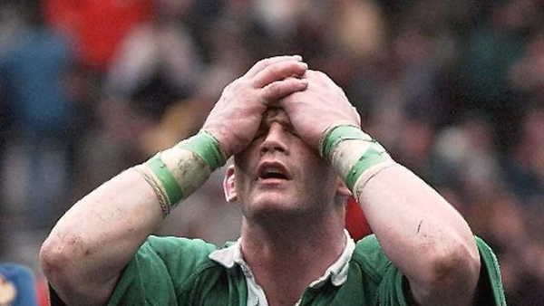 David Corkery after the defeat in 1998