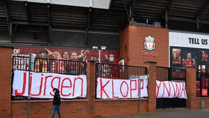 The show of support outside Anfield for the Liverpool manager
