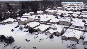 A cold snap in Texas in February saw widespread freezing rain, ice and snow