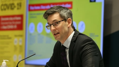 Deputy Chief Medical Officer Dr Ronan Glynn said any easing of virus measures should be 'slow and gradual'