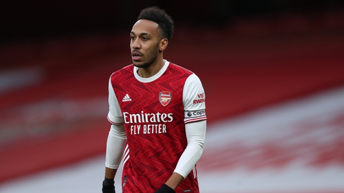 Pierre-Emerick Aubameyang shared the Golden Boot with Mohamed Salah and Sadio Mane in Unai Emery's only full season in charge of Arsenal