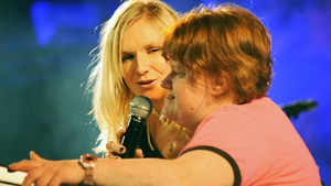 Jo Whiley and her sister Frances hosting a music event for UK charity Mencap in 2009