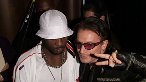 DMX and Bono at the 2001 MTV Video Music Awards at the Metropolitan Opera House at Lincoln Center in New York