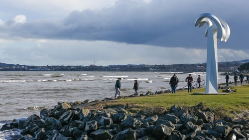 The group were cut off by the tide while on the strand this afternoon