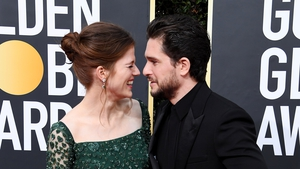 Leslie and Harington married in Scotland in 2018