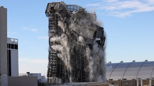 It took the building about seven seconds to completely collapse