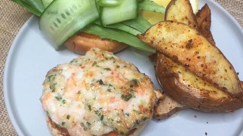 Wade Murphy's prawn and salmon burgers with chilli mayo