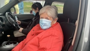 Maura Nolan was 'delighted' to be among those attending the Kilkenny drive-in vaccination centre