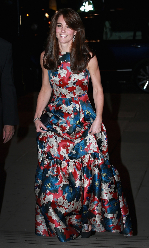 The Duchess of Cambridge arriving for the 100 Women in Hedge Funds Gala Dinner in aid of The Art Room, at the Victoria and Albert Museum in London