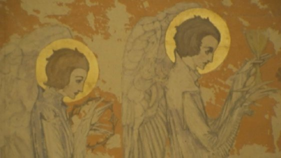 'Winged Angels in Profile' by Harry Clarke (1976)