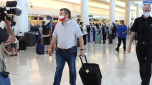 Texas Senator Ted Cruz pictured at Cancun International Airport in Mexico