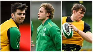 Harry Byrne, Craig Casey and Ryan Baird have been training with the Ireland squad