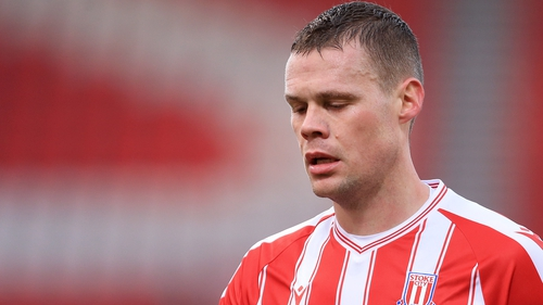 Ryan Shawcross during this season's FA Cup third round match against Leicester
