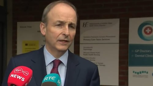 Micheál Martin said the emphasis remained on the return of schools