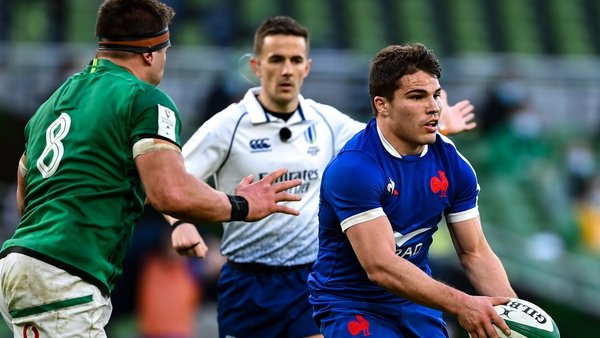Antoine Dupont was among the France players to return a positive test