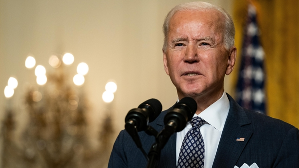Joe Biden referenced his Irish ancestry in a video welcoming newly sworn-in US citizens