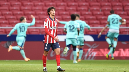 Joao Felix reacts after Levante's opening goal