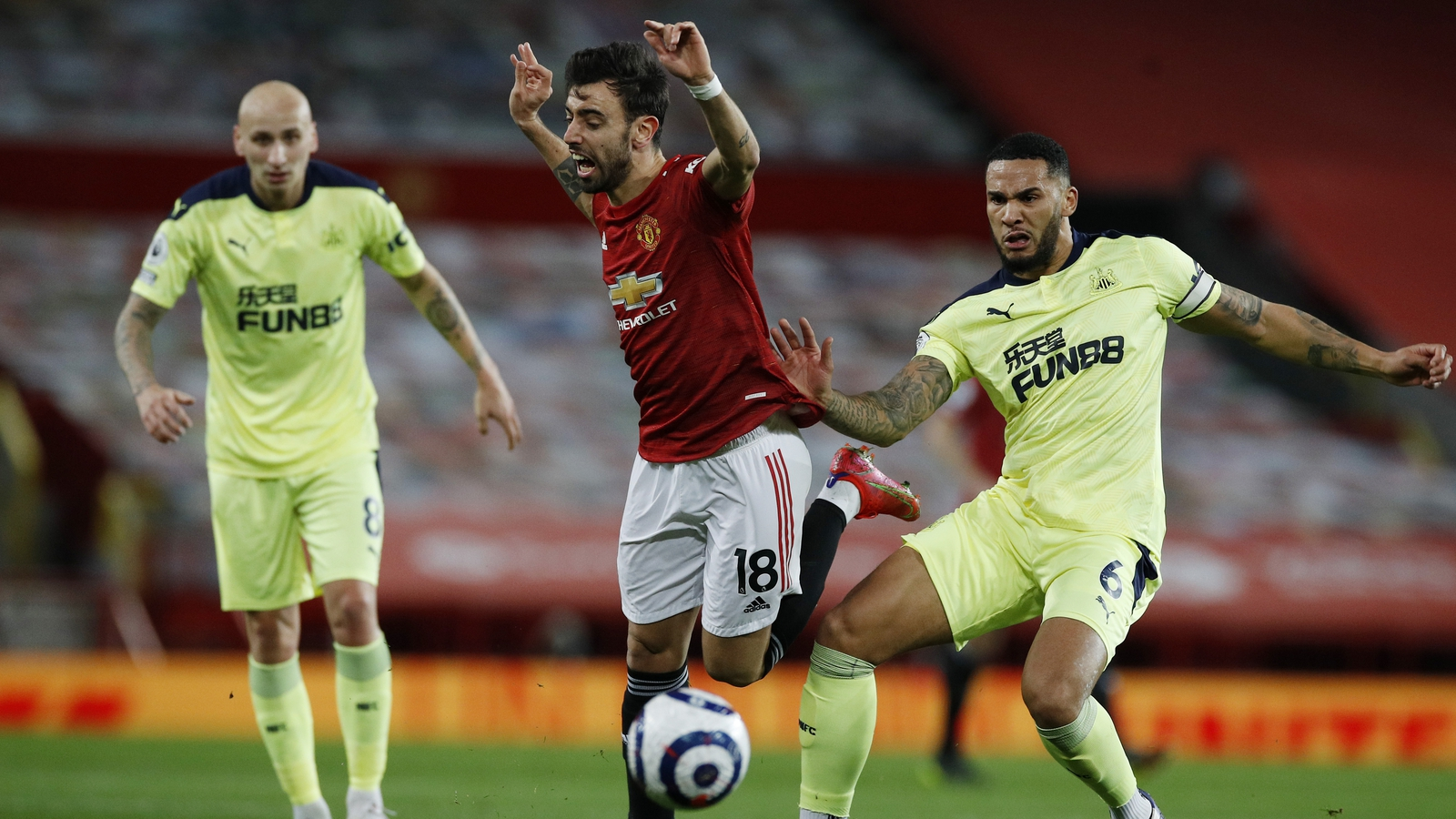 Image result for manchester united 3-1 newcaste