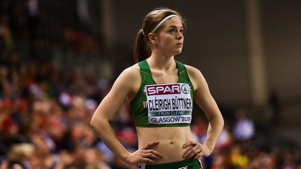 Síofra Cléirigh Buttner smashed the Irish indoor record set only last Wednesday by Nadia Power