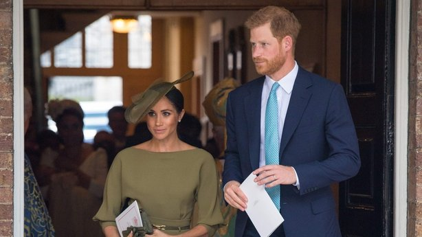The Duke and Duchess of Sussex at Prince Louis' christening in 2018 (Dominic Lipinski/PA)
