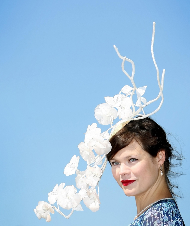 Jasmine Guinness wearing a Stephen Jones hat to Royal Ascot in 2010 (Dominic Lipinski/PA)