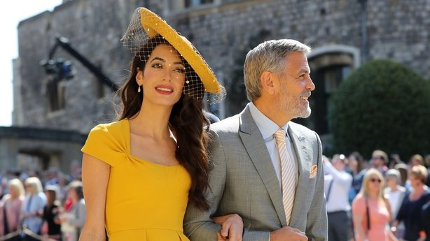 Amal and George Clooney at the wedding of the Duke and Duchess of Sussex (Gareth Fuller/PA)