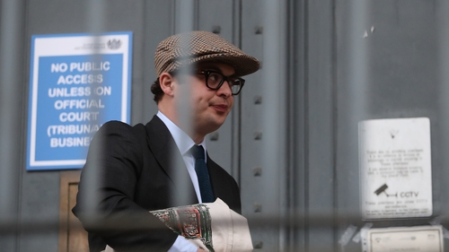 Simon Bowes-Lyon pictured arriving at court
