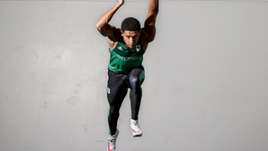 Leon Reid at the launch of the new Olympic Federation of Ireland campaign, 'Don't Scroll By'.