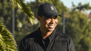 Tiger Woods was driving alone in a south Los Angeles suburb when the accident happened (file image)