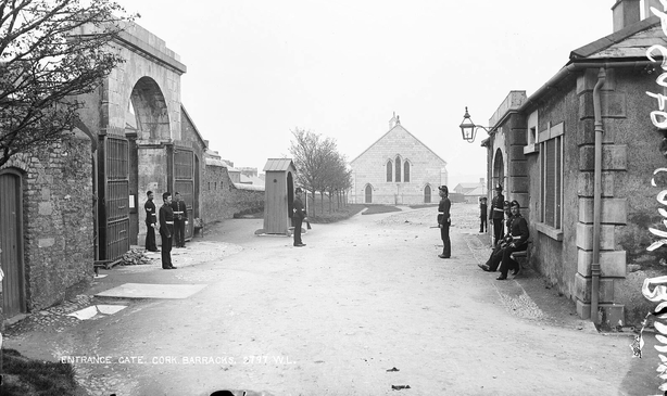 Victoria Barracks, in the late 19th century. Six men were executed there this week Photo: National Library of Ireland , LCAB_02797