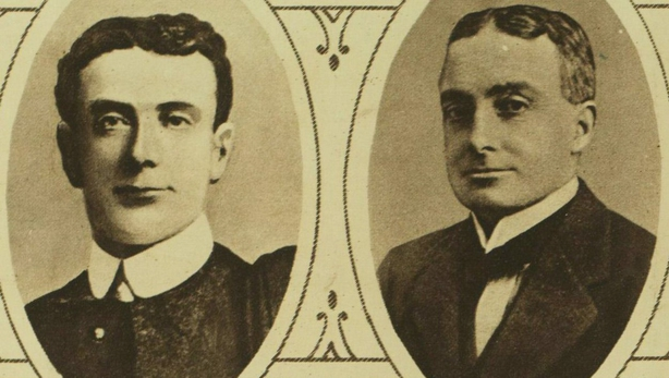 George Clancy (L) and Michael O'Callaghan were both murdered in Limerick on 7 March Photo: Illustrated London News [London, England], 9 March 1921