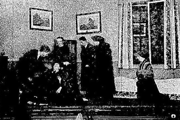 Scene from The Revolutionist on stage at the Abbey. Photo: Cork Examiner, 25 February 1921