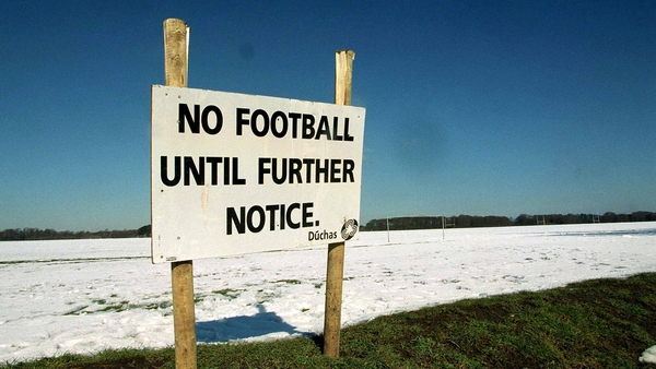 A notice confirming that no games could take place at the Phoenix Park