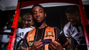 Junior Ogedi-Uzokwe will play in Oriel Park this season