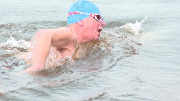 Ger Purcell undertook the Ice Mile challenge at the Shannon Rowing Club in Limerick