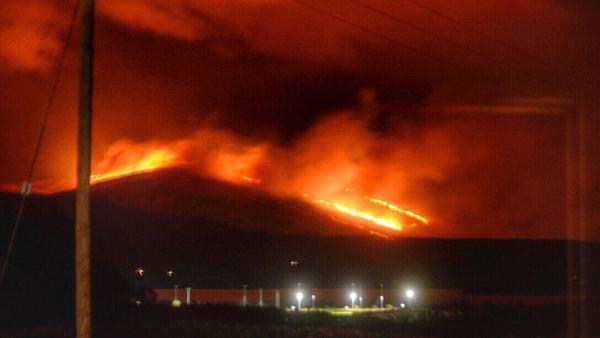 Gorse fires on the Iveragh Peninsula range. Pic: Suzan Baughman