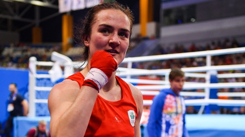 Kellie Harrington faces an Italian opponent in her last-16 bout at around 3am