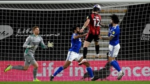 Shane Long headed Bournemouth ahead in their 2-1 defeat at home to Cardiff City