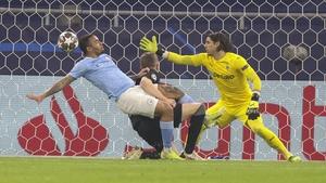 Gabriel Jesus scores Manchester City's second goal