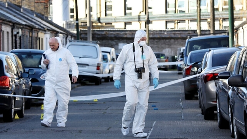 The area remains cordoned-off (Pics: RollingNews.ie)