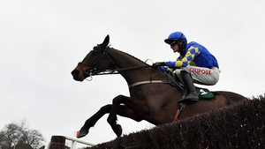 Kemboy, with Danny Mullins aboard, on their way to winning the Irish Gold Cup on day two of the Dublin Racing Festival