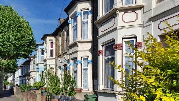 Victorian housing in east London (file pic)